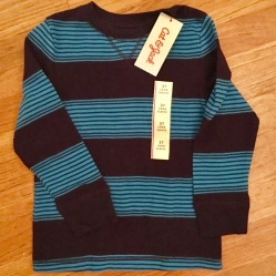 Cat and Jack striped shirt